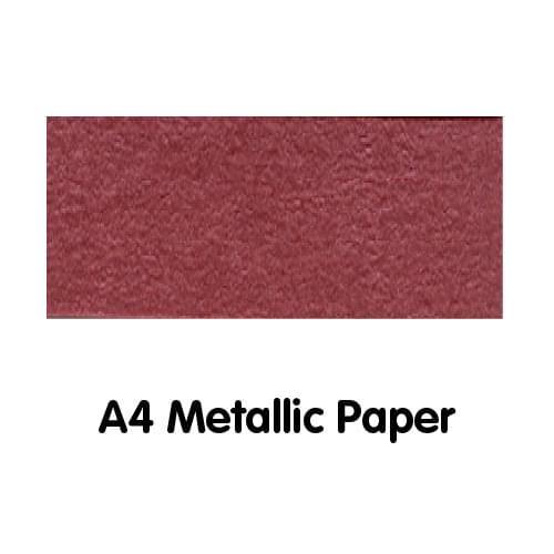 Metallics Paper A4 120gsm Red