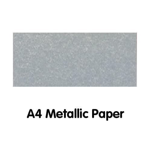 Metallics Paper A4 120gsm Silver