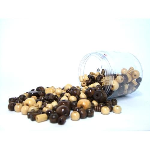 Natural Wooden Beads Tub