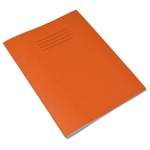 Rhino 9x7in Exercise Books Plain & 8mm Ruled Alternate Orange 48 Pages