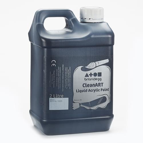 CleanART Acrylic Paint 2L Black