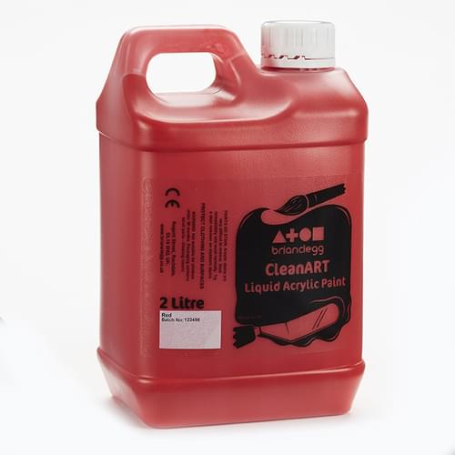 CleanART Acrylic Paint 2L Red