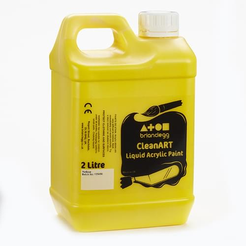 CleanART Acrylic Paint 2L Yellow