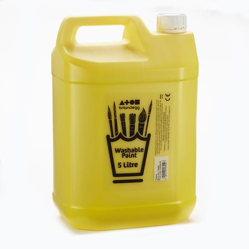 Washable Paint 5L Yellow