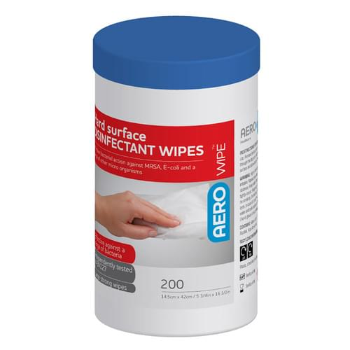 AeroWipe Alcohol-based Hard Surface Wipes Tub