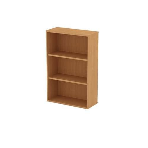 Universal Open Bookcase 1000x1252mm - Canadian Maple MFC