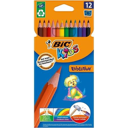 BIC Kids Ecolutions Evolution Colouring Pencils Wallet of 12