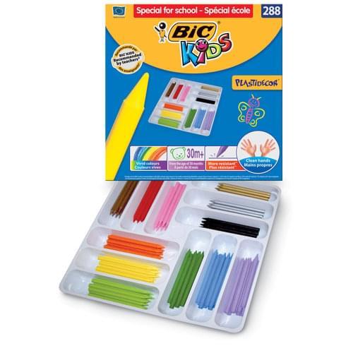 BIC Kids Plastidécor Colouring Crayons Classpack of 288