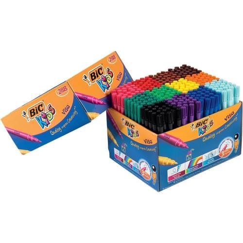 BIC Kids Visa Fine Colouring Pens Classpack of 288