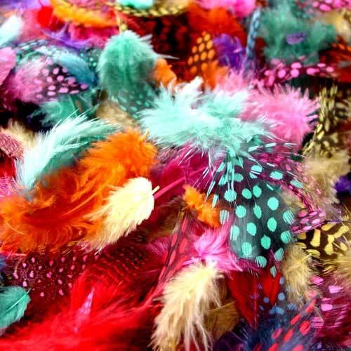 Speckled Feathers Assortment 28g Bag