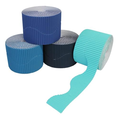 Blues Wavy Corrugated Border Roll Assortment