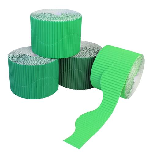 Greens Wavy Corrugated Border Roll Assortment