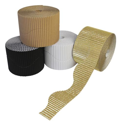 Neutrals Wavy Corrugated Border Roll Assortment