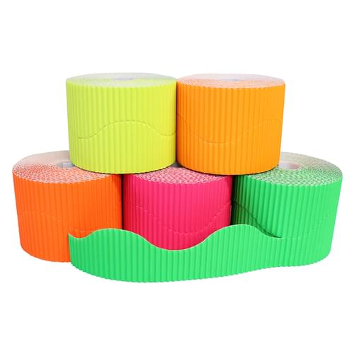 Fluorescent Wavy Corrugated Border Roll Assortment