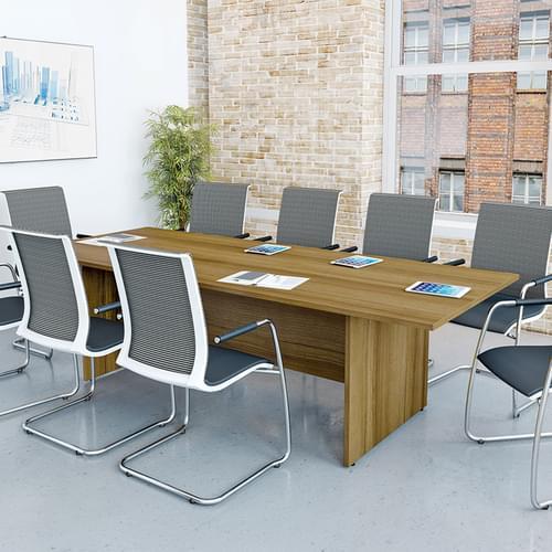 Rectangular Meeting Table 2000x1000mm - Panel End Legs, Grey MFC