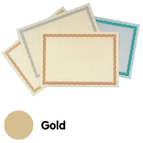 Certificate Paper A4 Gold Litho Border