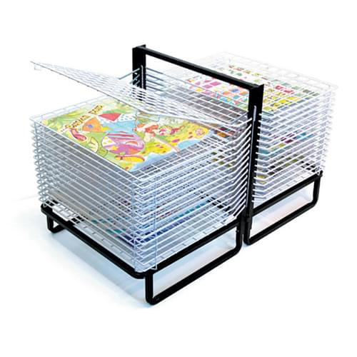 30 Shelf A2 Spring Loaded Double-sided Drying Rack