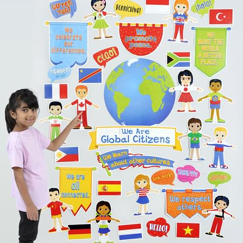 We Are Global Citizens Bulletin Board Set