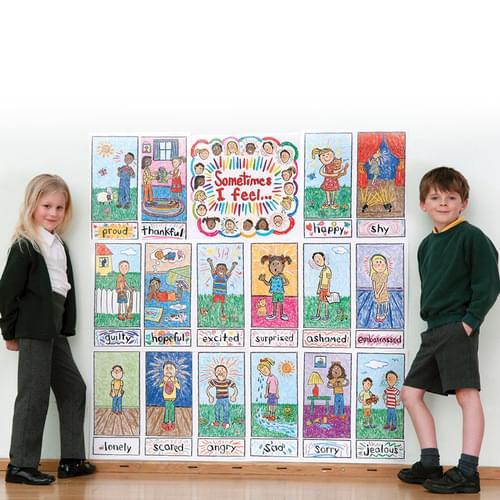 Emotions Kid Drawn Bulletin Board Set