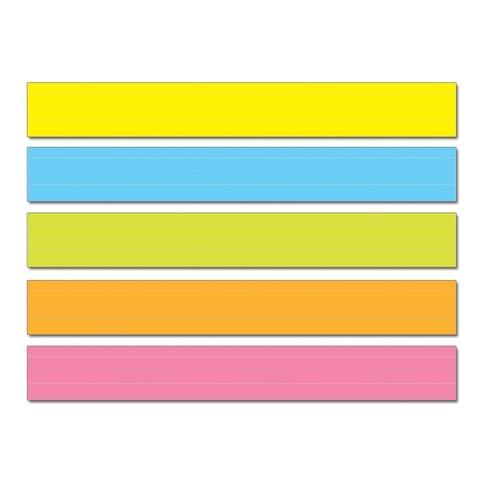 Coloured Lined Sentence Strips Pk75
