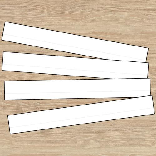 White Lined Sentence Strips Pk100