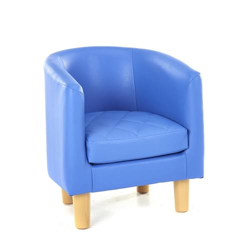 Children's Quilted Tub Chair Blue