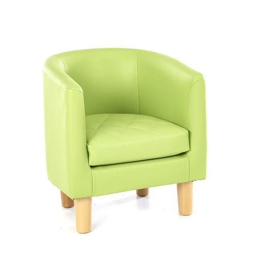 Children's Quilted Tub Chair Green