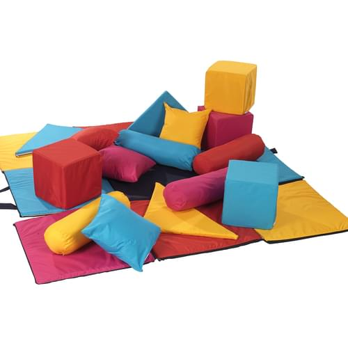 Seating Cube including 16 Cushions and Playmat