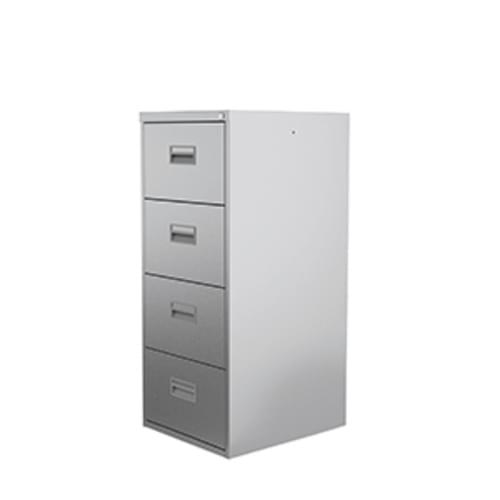 Midi 4 Drawer Metal Filing Cabinet Goose Grey
