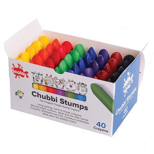 Chubbi Stumps Wax Crayons Assorted Box of 40