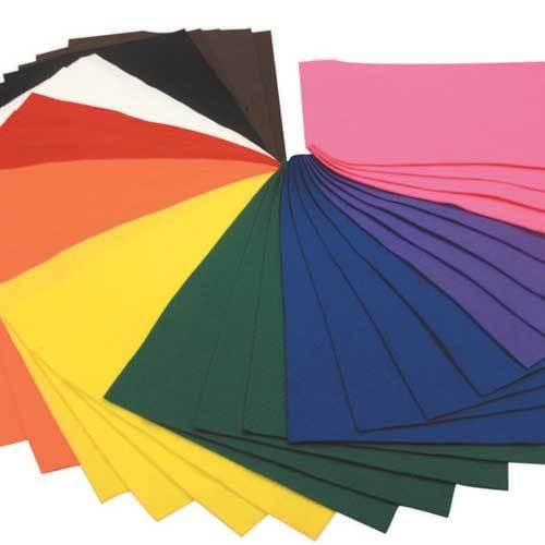 A4 Felt Sheet Assortment 40 Sheets