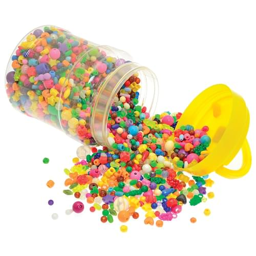 Bumper Bucket of Plastic Beads