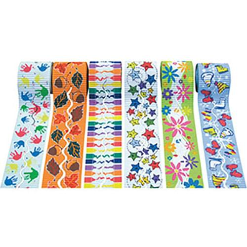 Design Bordette Themed Corrugated Border 6 Roll Assortment