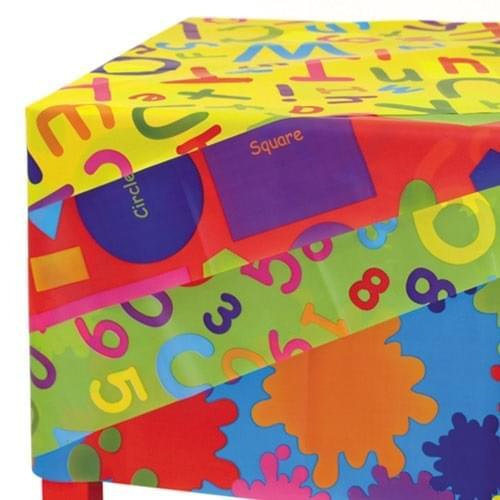 Letters, Numbers, Shapes & Colour Splats Splash Mats