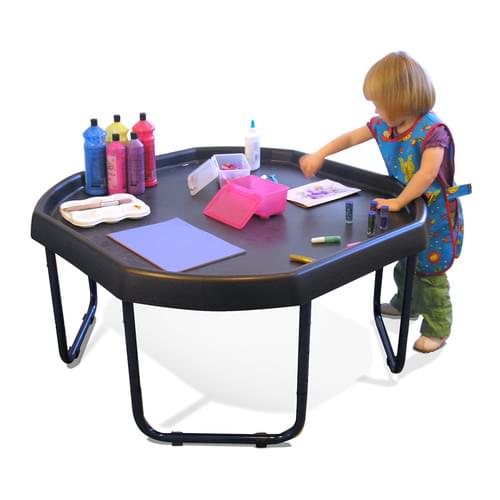 Black Tuff Tray with Height Adjustable Metal Stand