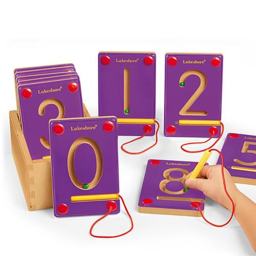 Magnetic Learning Numbers