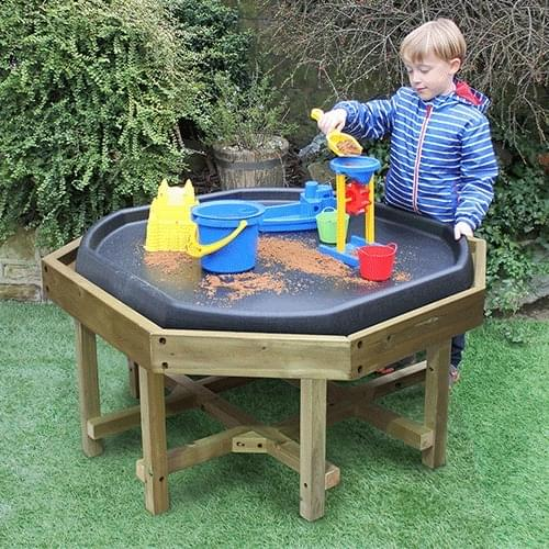 Black Tuff Tray with 550mm Outdoor Wooden Stand
