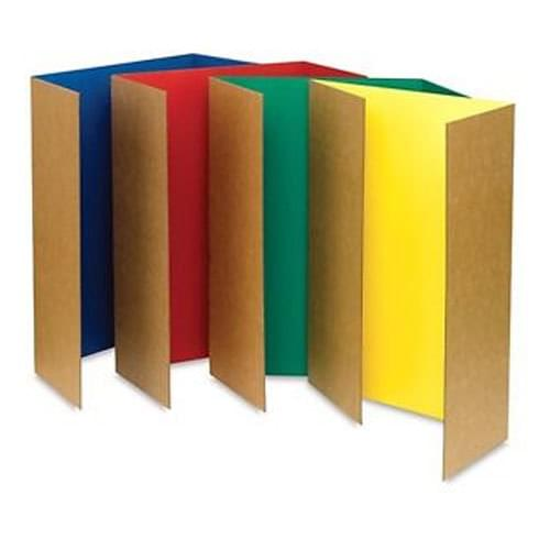 Tri-fold Presentation Board Assorted Colours Pk4