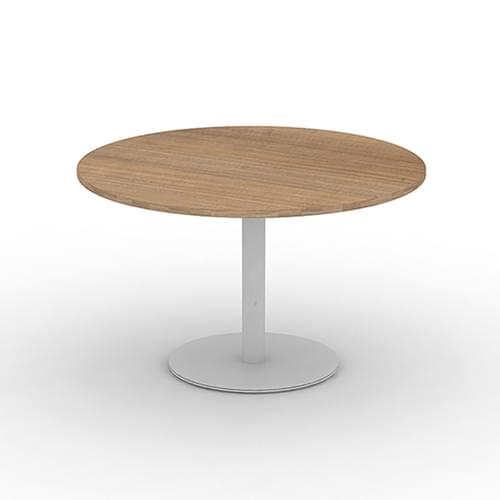 Circular Meeting Table Dia 1200mm - Silver Round Tulip Base, Canadian Maple MFC