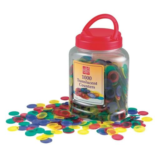 22mm Translucent Counters Pk1000 Assorted Colours