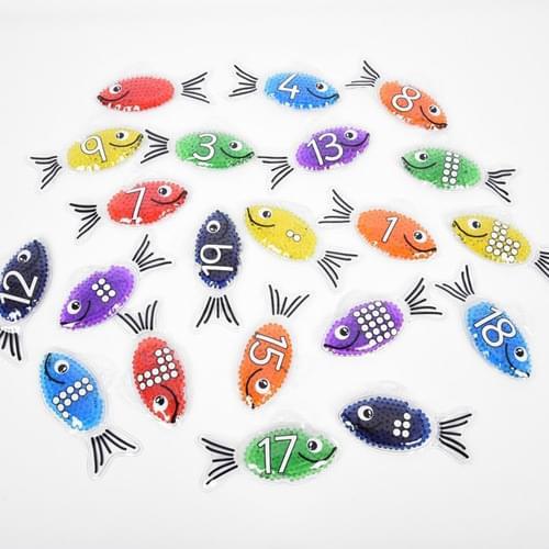TickiT 0-20 Rainbow Gel Number Fish