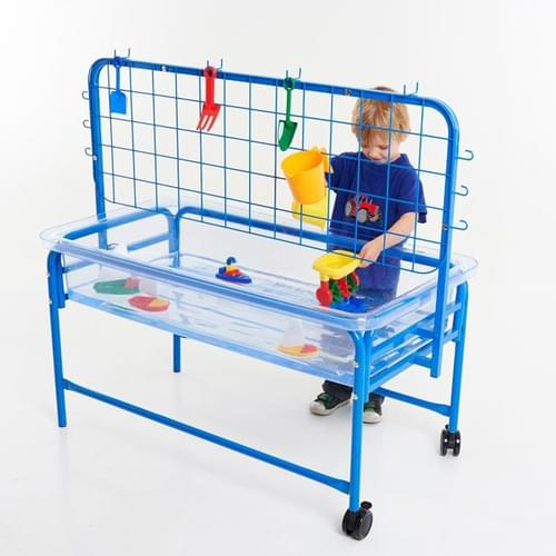 Edx 1100mm Clear Water Tray with Stand & Activity Rack