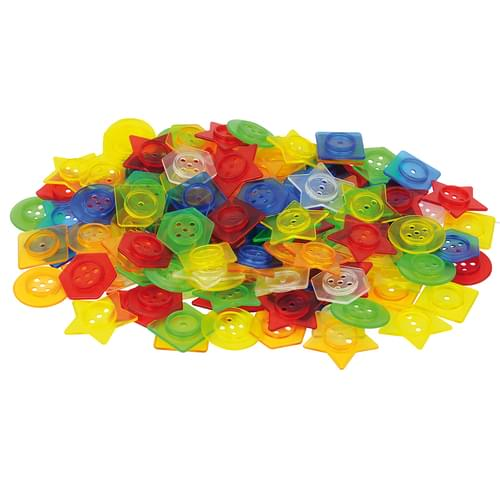 TickiT Stackable Translucent Buttons