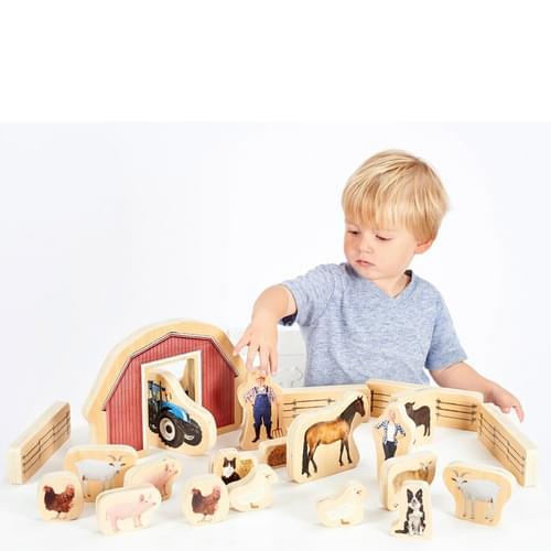 TickiT Wooden Farm Blocks