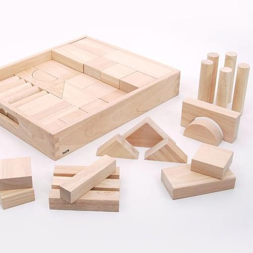 TickiT Natural Wooden Jumbo Blocks
