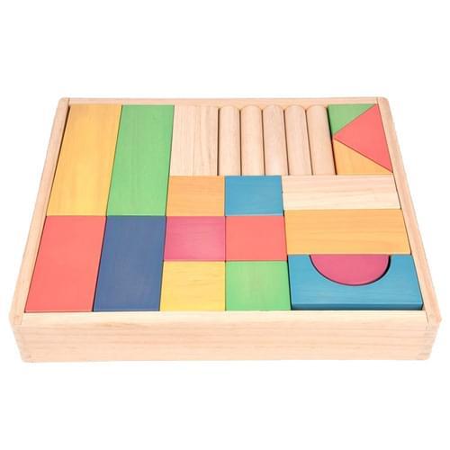 TickiT Rainbow Wooden Jumbo Blocks