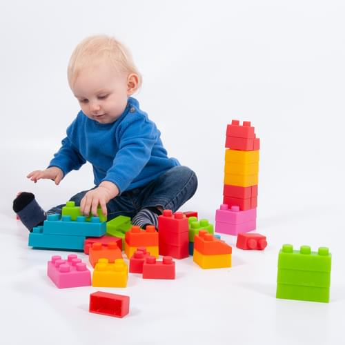 TickiT Chunky Soft Bricks 45 Piece Set