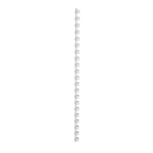 12mm Plastic Binding Combs White Pk100