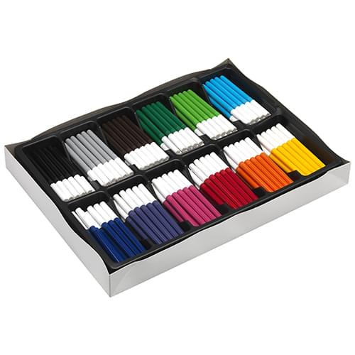 Colourworld Super Saver Broad Tip Colouring Felt Pens Assorted Classpack of 144