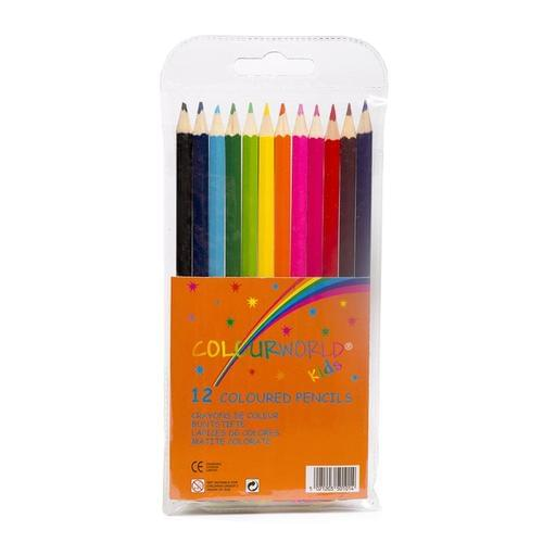 Colourworld Super Saver Colouring Pencils Assorted Wallet of 12